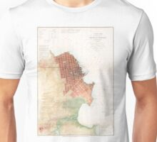 Vintage Map of San Francisco CA (1853) Unisex T-Shirt