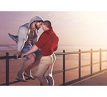 Couple at the beach Photographic Print