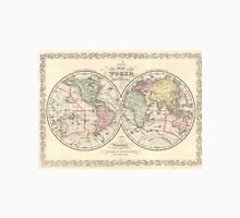 Vintage Map of The World (1856) Unisex T-Shirt