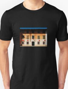Italian Flags on Rural Building Unisex T-Shirt