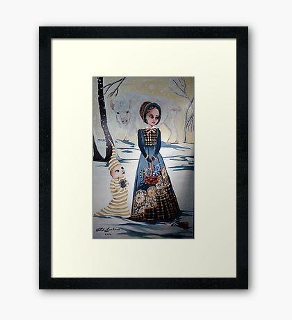 The Snow Buffalo Framed Print