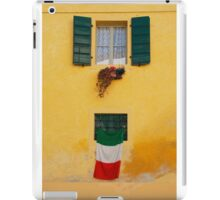 Italian Flag on Yellow Building iPad Case/Skin