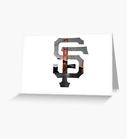 SF Giants White Greeting Card