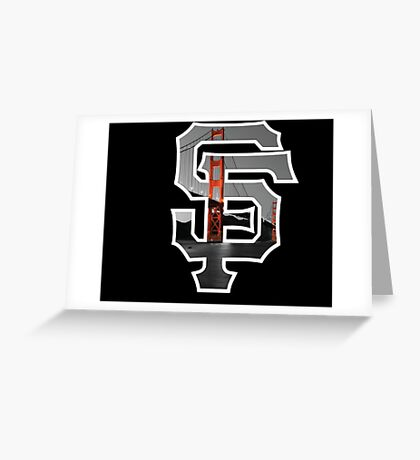 SF Giants Black Greeting Card