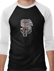 SF Giants Black Men's Baseball ¾ T-Shirt