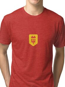 Manchester United Minimalist Football Design Tri-blend T-Shirt