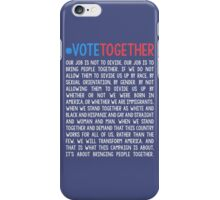 Vote Together iPhone Case/Skin