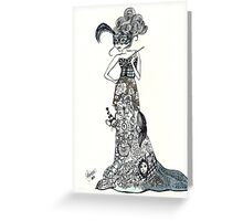 Lady Labyrinth in Tuxedo Greeting Card