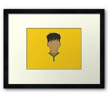 Neymar Brazil Football Design Framed Print