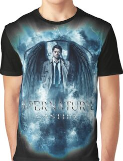Supernatural Castiel Storm Graphic T-Shirt