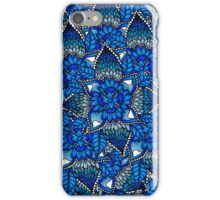 Blue ombre watercolor mermaid mandala boho iPhone Case/Skin