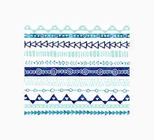 Teal Blue Turquoise Hand Drawn Geometric Pattern Classic T-Shirt