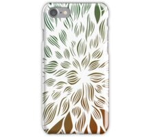 flower (orange-green) iPhone Case/Skin