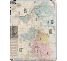 Vintage Map of The World (1859) iPad Case/Skin