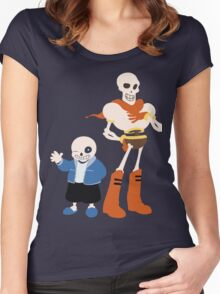 Undertale Sans and Papyrus Amazing Design!! Women's Fitted Scoop T-Shirt