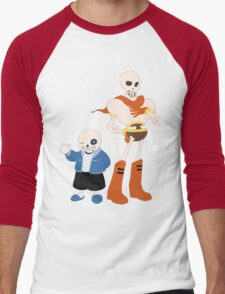 Undertale Sans and Papyrus Amazing Design!! Men's Baseball ¾ T-Shirt