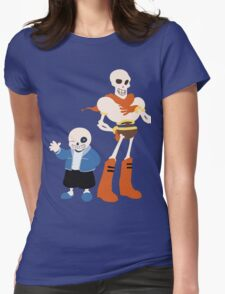 Undertale Sans and Papyrus Amazing Design!! Womens Fitted T-Shirt