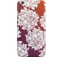 flower (orange-purple) iPhone Case/Skin