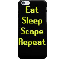 Eat, Sleep, Scape, Repeat. iPhone Case/Skin
