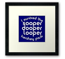 sooper dooper looper Framed Print