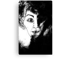 women in black Canvas Print