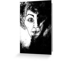 women in black Greeting Card