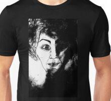 women in black Unisex T-Shirt