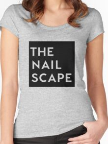 The Nailscape Square Wordmark Women's Fitted Scoop T-Shirt