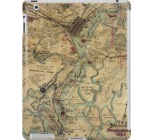 Vintage Savannah Georgia Civil War Map (1864) iPad Case/Skin