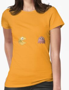 Pacman and ghost Womens Fitted T-Shirt