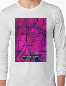 Las Vegas city map Long Sleeve T-Shirt