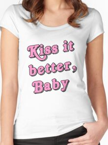 Kiss it better Women's Fitted Scoop T-Shirt