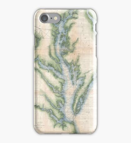 Vintage Map of The Chesapeake Bay (1873) iPhone Case/Skin