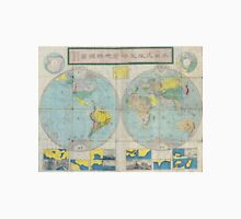Vintage Japanese World Map (1875) Unisex T-Shirt