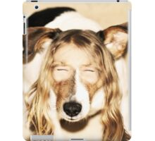 Girl dog hybrid iPad Case/Skin