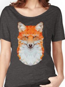 Low-poly Geometric Fox Women's Relaxed Fit T-Shirt