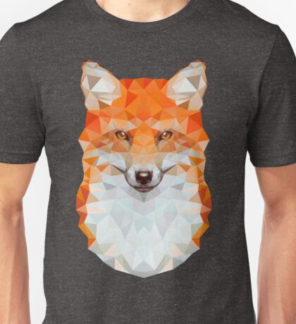 Low-poly Geometric Fox Unisex T-Shirt