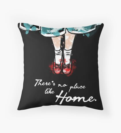 There's no place like home watercolour Throw Pillow