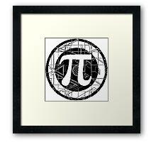 Pi Day Pi Symbol Framed Print