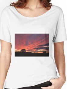 Red Sky Sunset Women's Relaxed Fit T-Shirt