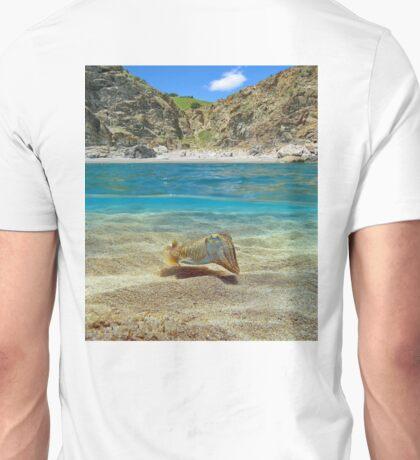 Mediterranean cove with cuttlefish underwater Unisex T-Shirt