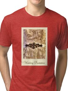 Wedding Invitation Tri-blend T-Shirt