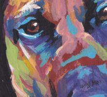 Rhodesian Ridgeback Bright colorful pop dog art Sticker