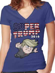 Super Trump 2016 Women's Fitted V-Neck T-Shirt