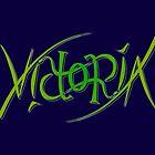 """Victoria"" Ambigram (reversible image) by flatfrog00"