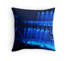 Blue glasses Throw Pillow