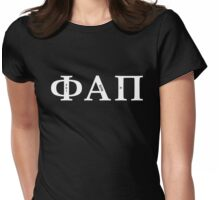 Phi Alpha Pi (White Font) Womens Fitted T-Shirt