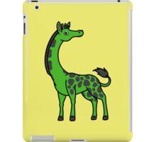 Green Giraffe with Black Spots iPad Case/Skin