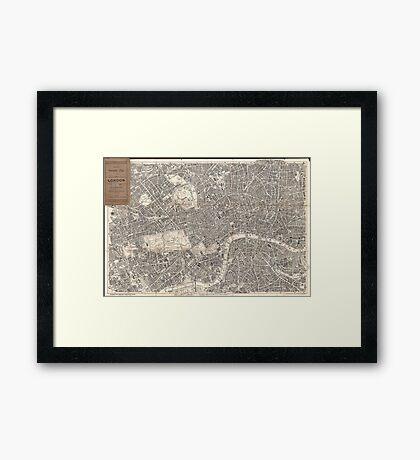 Vintage Map of London England (1899) 2 Framed Print