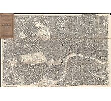 Vintage Map of London England (1899) 2 Photographic Print
